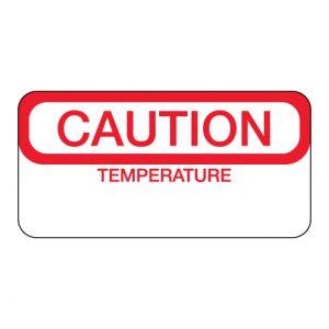 Caution Temperature Label