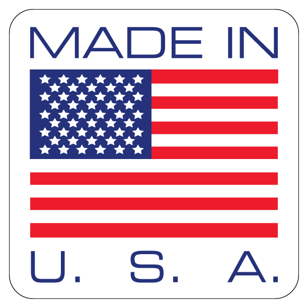 "Made In USA Label 4"" x 4"""