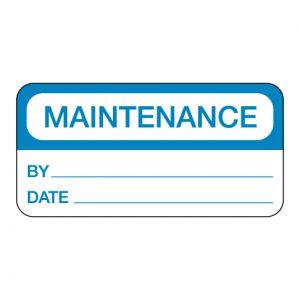 Maintenance Label