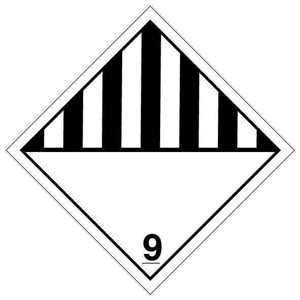 """4"""" X 4"""" Dry Ice / Misc. Label"""