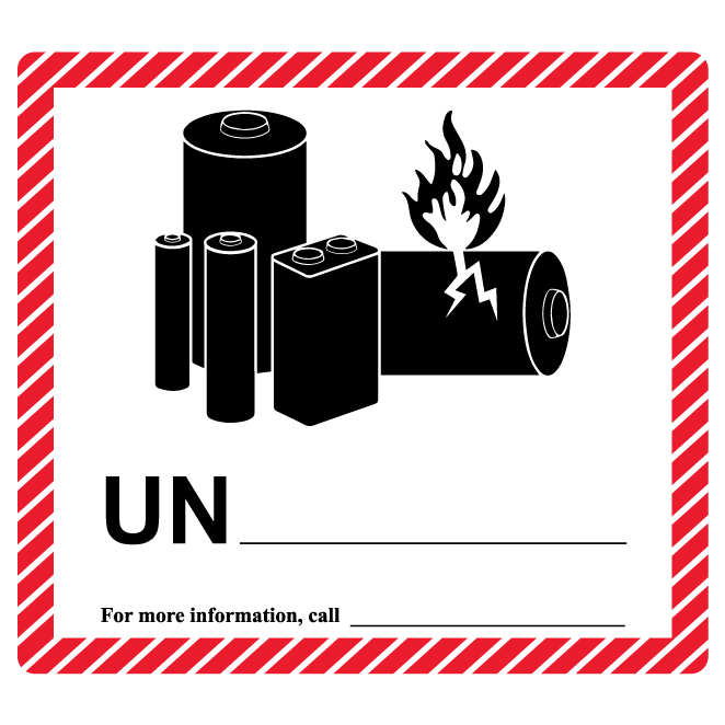 Lithium Battery Ion/Metal Blank Label